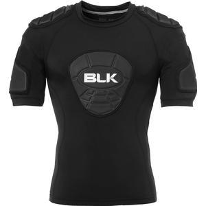 BLK Rugby TEK 6 Schulterpolster-Shirt schwarz