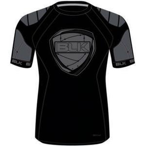 BLK Rugby TEK 6 Schulterpolster-Shirt schwarz Kinder