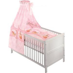 100x135 Baby Bettset 4tlg. Kuschelbär Rosa