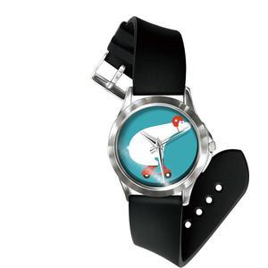 Blue Pearls Mixed Sloth Uhr und Armband Silikon schwarz