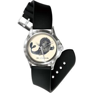 Blue Pearls Damen Uhr Analog Quarz mit Stoff Armband