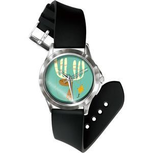 Blue Pearls Mixed Rentier Uhr und Armband Silikon schwarz