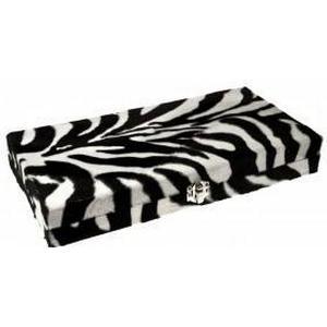 Schmuckbox für 12 Piercings mit Kunstfell bezogen Zebra Look Spiegel innen