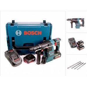Bosch GBH 18 V-26 F Akku Bohrhammer Professional SDS-Plus in L-Boxx + 2x GBA 6 Ah Akku + GAL 1880 CV Ladegerät + Bohrer Set