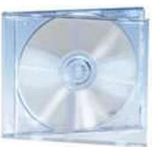 Assmann ednet 64031 - Leerhülle für CD, DVD, Blu Ray - Set aus 5 Stück - transparentes CD-Tray und Cover