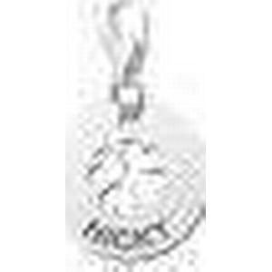 Charm Kleeblatt Anhaenger mit Gravur aus Silber