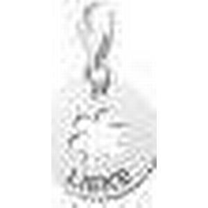 Charm Blume Anhaenger aus Silber mit Gravur