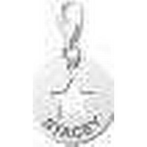 Charm Stern Anhaenger aus Silber mit Gravur