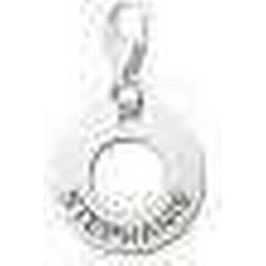 Charm Kreis Anhaenger aus Silber mit Gravur