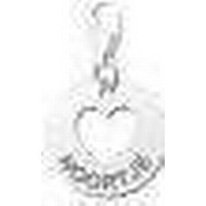 Charm Herz Anhaenger aus Silber mit Gravur