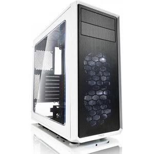 Fractal Design Focus G White Window, PC Gehäuse (Midi Tower mit Seitlichem Fenster) Case Modding für