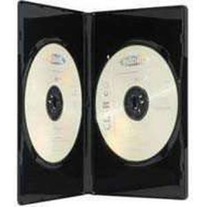 Assmann ednet 64043 - Leerhülle für CD, DVD, Blu Ray - Double Case für 2 Discs - Set aus 5 Stück - Schwarz