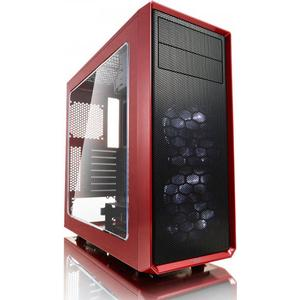 Fractal Design Focus G Red Window, PC Gehäuse (Midi Tower mit Seitlichem Fenster) Case Modding für (