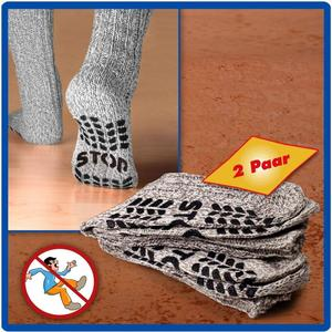 - Anti-Rutsch Socken Gr.43-46 2er Set