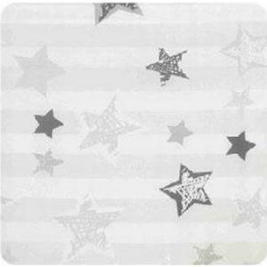 Alvi Wickelauflage 2er Keil Silver Stars 68 x 60 cm - grau