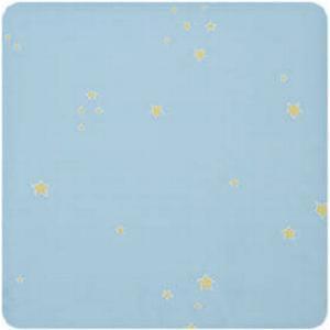 Alvi Wickelauflage 2er Keil Sternchen blau 68 x 60 cm