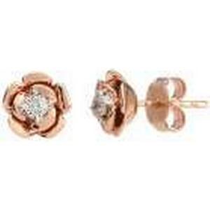1-2-3.tv Ohrstecker 375 Rosgold Diamanten