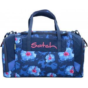 Satch Duffle Bag Sporttasche 44 cm blau weiße blumen waikiki blue