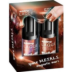 edding Make-up Nägel Magnetic M.A.R.S. Set Nail Lacquer Magnetic Mars 8 ml + Glitter Top Coat Supreme Stardust 8 ml 1 Stk.