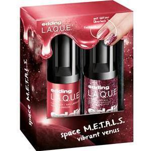 edding Make-up Nägel Vibrant V.E.N.U.S Set Nail Lacquer Vibrant Venus 8 ml + Glitter Top Coat Super Supernova 8 ml 1 Stk.