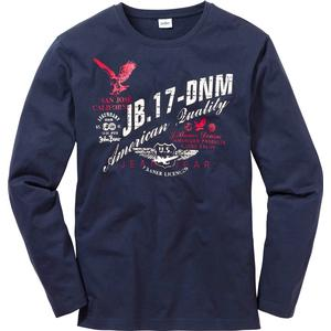 John Baner JEANSWEAR Langarmshirt Regular Fit in blau für Herren von bonprix