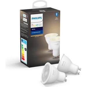 Philips Hue White Bluetooth LED Lamps 5.2W GU10 2-pack