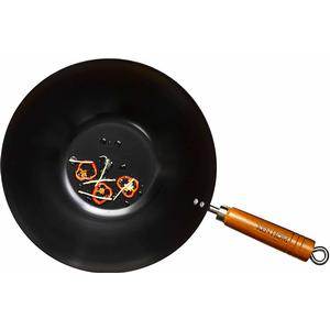 Ken Hom Everyday Non Stick Carbon Steel Wok-Pfanne 20cm
