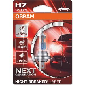 Osram H7 Night Breaker Laser Halogen Lamps 55W PX26d