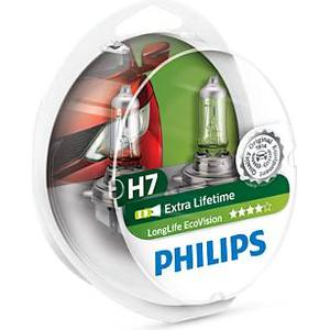 Philips H7 LongLife EcoVision Halogen Lamps 55W PX26d 2-pack