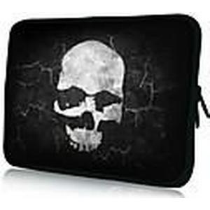 """""""Black Terror Skull"""" Pattern Nylon Material wasserdicht Hülle für 11 """"/ 13"""" / 15 """"Laptop  Tablet"""