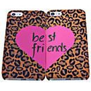2 PCS Leopard Grain Best Friend Polycarbonat zurück Fall für iPhone 5/5S