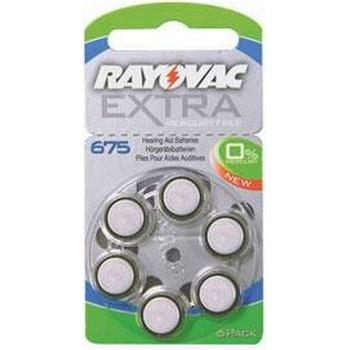 Rayovac EXTRA kvicksilverfritt 675 BLÅ 6 st