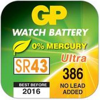 Batteri Silveroxid GP SR43W 38