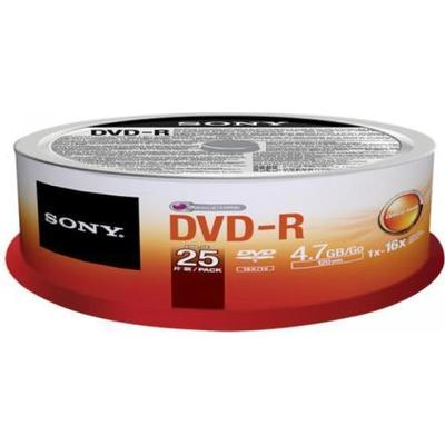 Sony DVD-R 4.7GB 16x Spindle 25-Pack