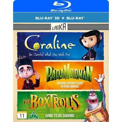 Boxtrolls 3D/2D + Paranorman + Coraline (Blu-Ray 2015)