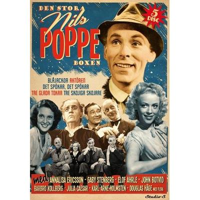 Den stora Nils Poppe boxen - 5 filmer (DVD Box: 2015)