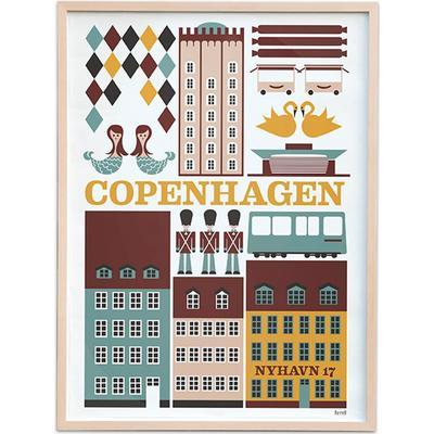 Ferm Living Copenhagen 29.7x42cm Affisch
