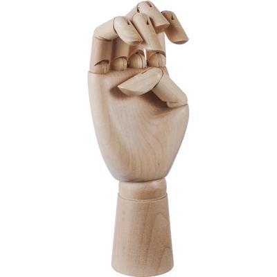Hay Untreate Wooden Hand Skulptur