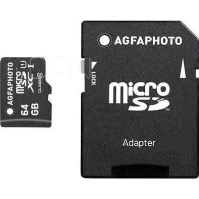 AgfaPhoto Mobile High Speed 64GB MicroSDXC Class 10 + Adapter