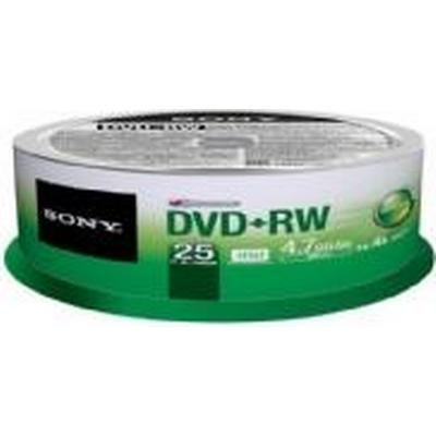 Sony DVD+RW 4.7GB 4x Spindle 25-Pack