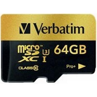Verbatim Pro+ MicroSDXC UHS-I U3 64GB