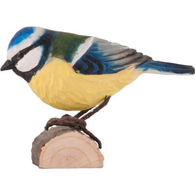 Wild Life Garden Deco Bird Eurasian Blue Tit Prydnadsfigur