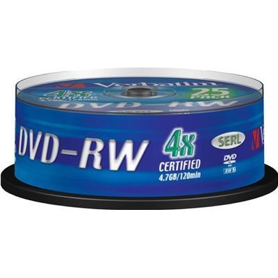 Verbatim DVD-RW 4.7GB 4x Spindle 25-Pack