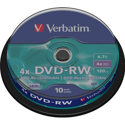 Verbatim DVD-RW 4.7GB 4x Spindle 10-Pack