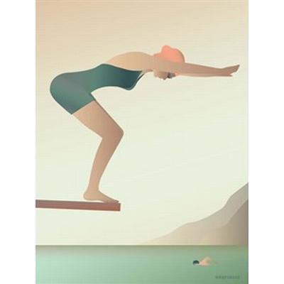 Vissevasse The Swimmer 50x70cm Affisch