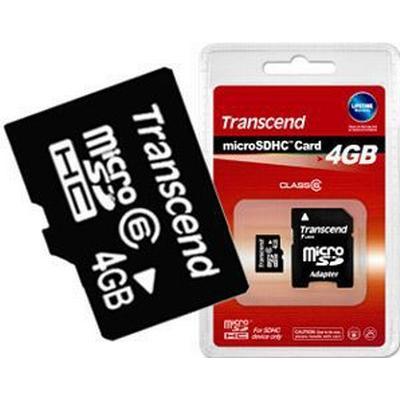 Transcend MicroSDHC Class 6 4GB