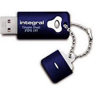 Integral Crypto Dual FIPS 197 Encrypted 32GB USB 2.0