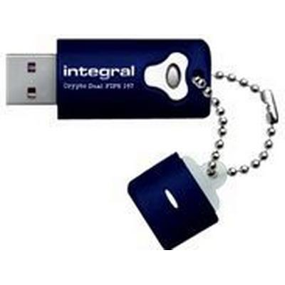 Integral Crypto Dual FIPS 197 Encrypted 4GB USB 2.0