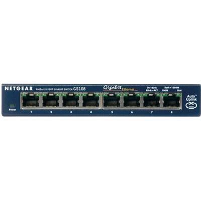 Netgear ProSafe 8 Port Gigabit Desktop Switch (GS108)