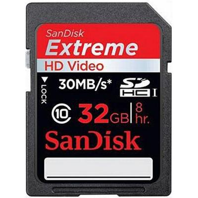 SanDisk Extreme HD Video SDHC 30MB/s 32GB